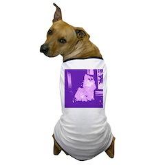 Pop Art Gray Long-haired Cat Dog T-Shirt