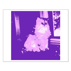 Pop Art Gray Long-haired Cat Posters