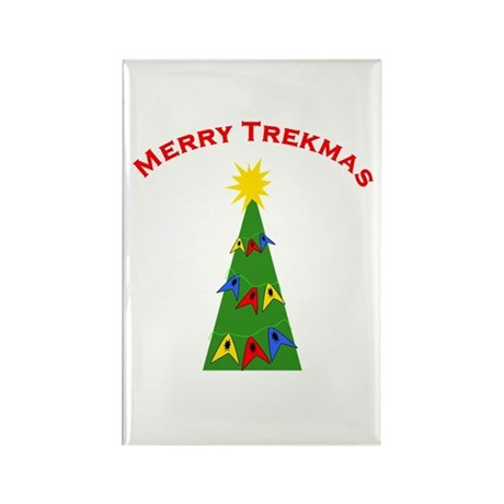 Merry Trekmas Rectangle Magnet