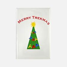 Merry Trekmas Rectangle Magnet