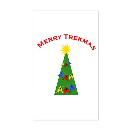 Merry Trekmas Sticker (Rectangle)