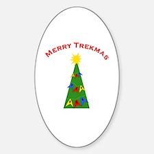 Merry Trekmas Sticker (Oval)