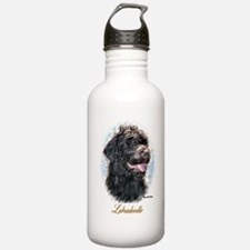 Labradoodle Art Water Bottle