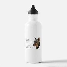 Doberman Pinscher Gifts Sports Water Bottle