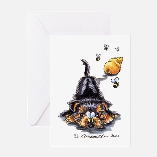 Bee Yorkie Lover Greeting Card