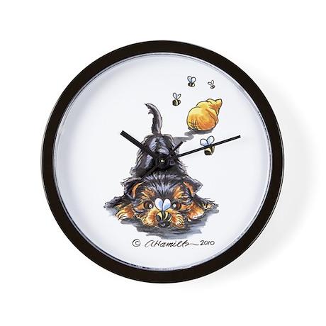 Bee Yorkie Lover Wall Clock