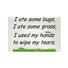 I ate some bugs Rectangle Magnet
