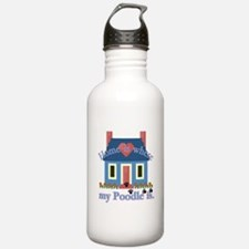 Poodle Lovers Gifts Water Bottle