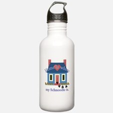 Schnoodle Lover Gifts Water Bottle