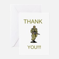 Thank You - gold Greeting Cards (Pk of 20)
