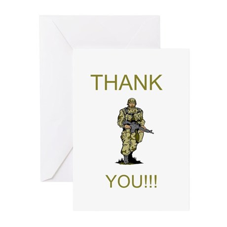 Thank You - gold Greeting Cards (Pk of 10)