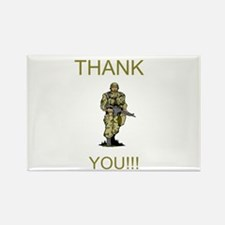 Thank You - gold Rectangle Magnet
