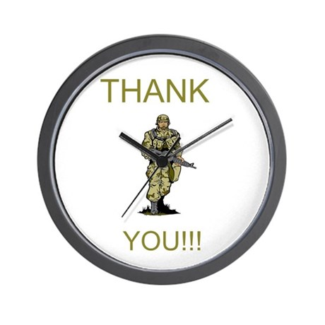 Thank You - gold Wall Clock