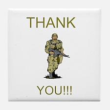 Thank You - gold Tile Coaster