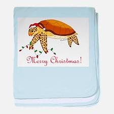 Christmas Sea Turtle baby blanket