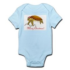 Christmas Sea Turtle Infant Bodysuit