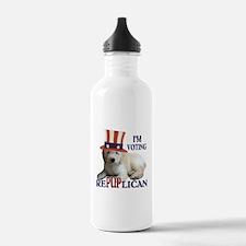 RePUPlican Goldendoodle Water Bottle