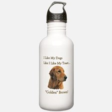 I Like My Dogs Golden Brown Water Bottle