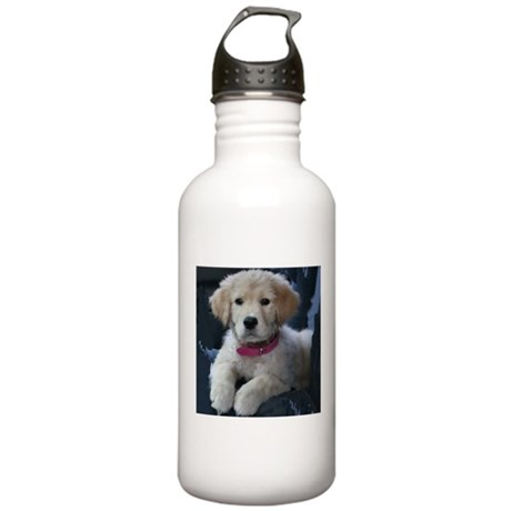 Golden Retriever Puppy Stainless Water Bottle 1.0L