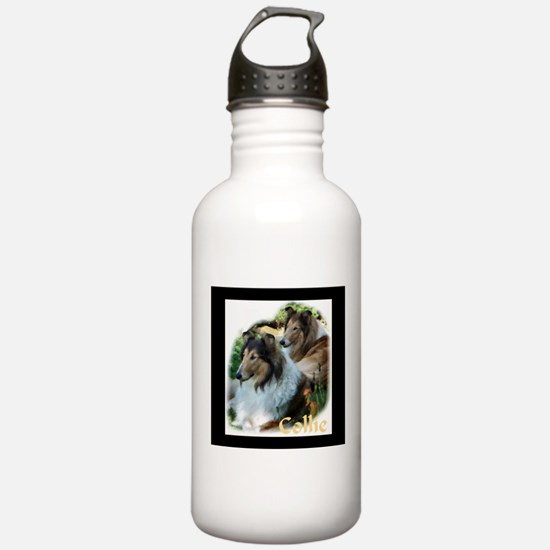 Collie Art Gifts Water Bottle