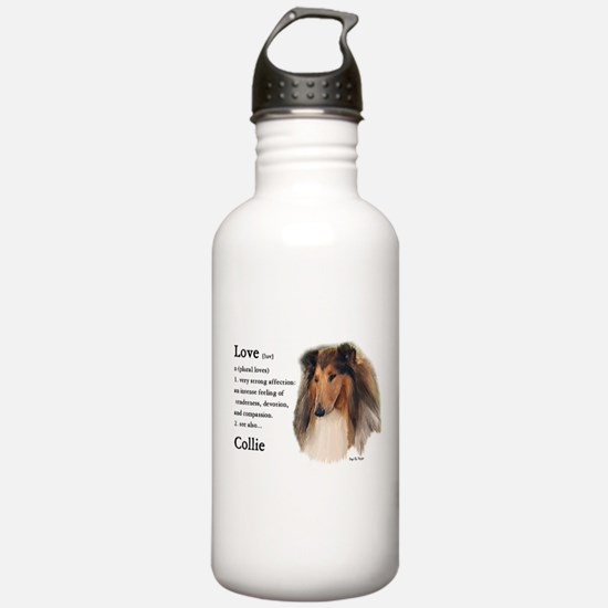 Rough Collie Gifts Water Bottle