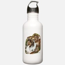 Rough Collie Art Gifts Water Bottle