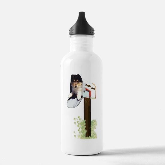 Rough Collie Puppy Water Bottle