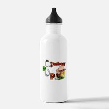 Golden Retriever Cowboy Water Bottle