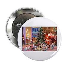 "SANTA CLAUS ON CHRISTMAS EV 2.25"" Button (10 pack)"