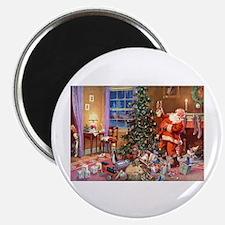 "SANTA CLAUS ON CHRISTMAS EV 2.25"" Magnet (10 pack)"