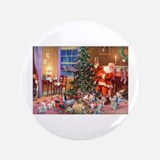 "SANTA CLAUS ON CHRISTMAS EV 3.5"" Button (100 pack)"