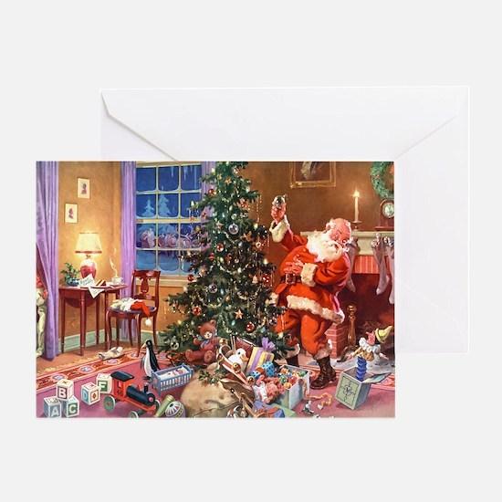 SANTA CLAUS ON CHRISTMAS EVE Greeting Card