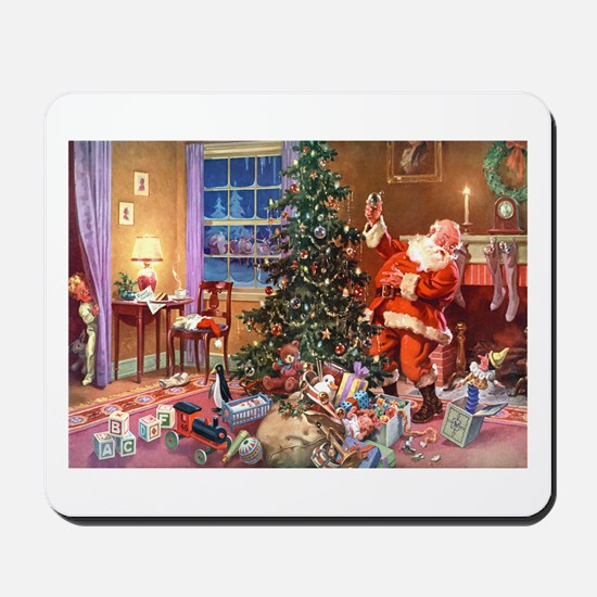 SANTA CLAUS ON CHRISTMAS EVE Mousepad