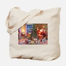 SANTA CLAUS ON CHRISTMAS EVE Tote Bag