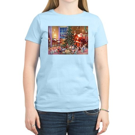 SANTA CLAUS ON CHRISTMAS EVE Women's Light T-Shirt