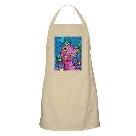 Cat and Dragonflies Apron