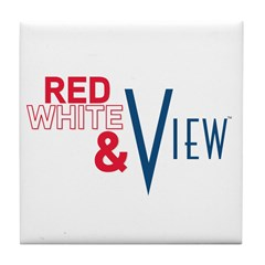 Red, White & View Tile Coaster