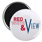 Red, White & View Magnet