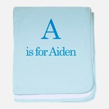 A is for Aiden baby blanket