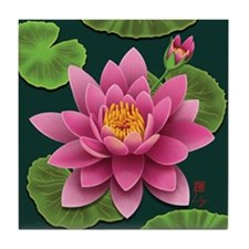 Serenity Water Lily Tile Coaster