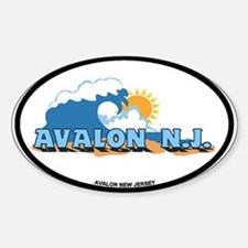 Avalon NJ - Waves Design Decal