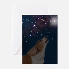 RD Basset O Howly Night Greeting Cards (Pk of 10)