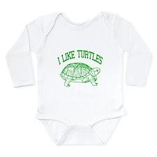 I Like Turtles - Long Sleeve Infant Bodysuit