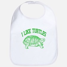 I Like Turtles - Bib