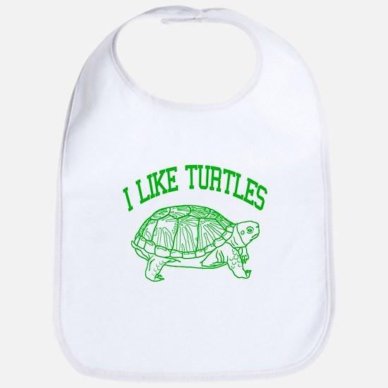 I Like Turtles - Bib