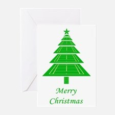 Tennis Court Christmas Tree Cards (Pk of 20)