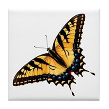 Tiger Swallowtail Butterfly Tile Coaster