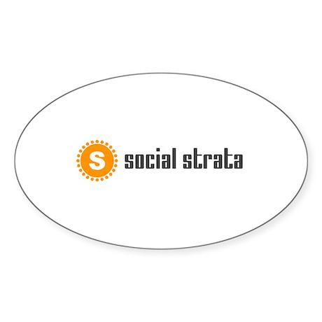 Social Strata Sticker (Oval)