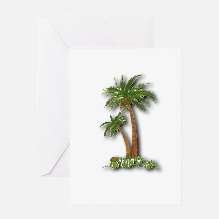 Twin palms Greeting Card