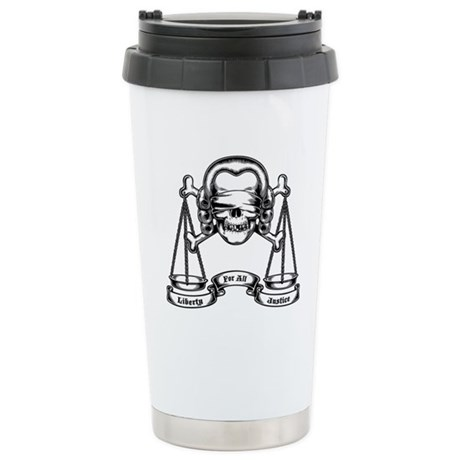 Law Pirate Stainless Steel Travel Mug